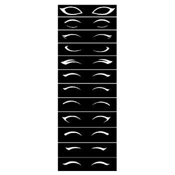 خرید شابلون خط چشم مدل A01 بسته 12 عددی