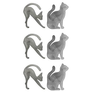خرید شابلون ابرو و خط چشم مدل Cat Line مجموعه 6 عددی
